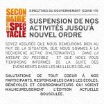 Avis important - Directives du gouvernement (COVID-19) : Suspension des activités de Secondaire en spectacle
