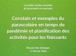 Résumé des échanges des tables rondes virtuelles du 17 février  « Constats et exemple du parascolaire en temps de pandémie et planification des activités pour les finissants »