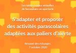 Résumé des échanges des tables rondes virtuelles du 7 octobre « S'adapter et proposer des activités parascolaires adaptées aux paliers d'alerte »